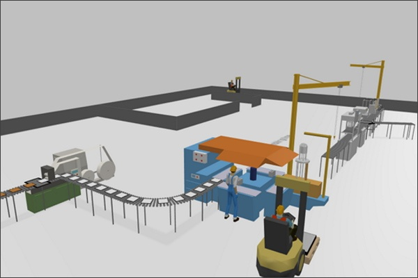 Material Handling Library Tutorial: AGV, Cranes, and Conveyors